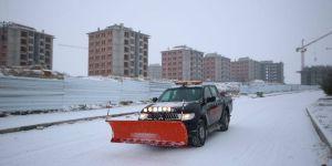Beyşehir'de karla mücadele ekipleri teyakkuzda