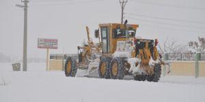 Sarayönü ilçesinde karla mücadele
