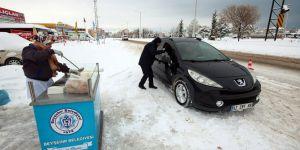 Beyşehir Belediyesinden sürücülere çorba ikramı