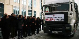 Konya'da adliye çalışanlarından Haleplilere yardım