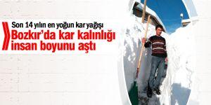 Konya'da Kar Kalınlığı İnsan Boyunu Aştı
