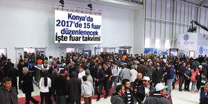 Konya'da 2017'de 15 fuar düzenlenecek