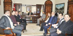 Selçuk Üniversitesi Sivil Havacılık Yüksek Okulu personeli Rektörü ziyaret etti