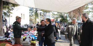 Başkanı Tutal, pazarcı esnafıyla buluştu