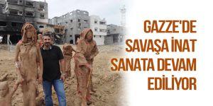 Gazze'de savaşa inat  sanata devam ediliyor