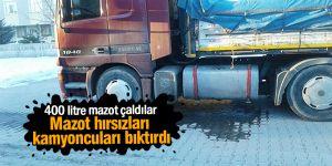 Mazot hırsızları kamyoncuları bıktırdı