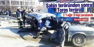 Kulu'da büyük kaza 4 araç birbirine girdi