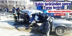 Konya'daki korkunç kaza kamerada!