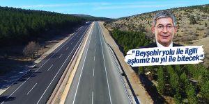 """""""Beyşehir yolu ile ilgili aşkımız bu yıl ile bitecek"""""""