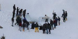 """Konya'da geleneksel """"kar basma"""" etkinliği"""