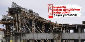 Konya'da inşaatta göçük: 3 yaralı