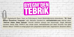 BYEGM'den Merhaba'ya tebrik mesajı