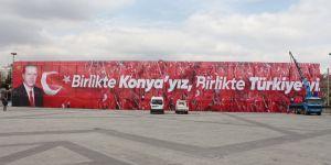 Kılıçarslan Meydanı Erdoğan'a hazırlanıyor