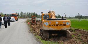 Çumra'da yol yapım çalışmaları