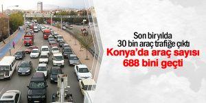 Konya'da motorlu taşıt sayısı 30 bin arttı