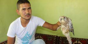 Karapınar'da yaralı kuş tedavi altına alındı