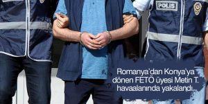 Aranan FETÖ üyesi havaalanında yakalandı