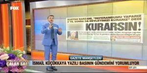 İsmail Küçükkaya Sözcü'nün manşetini blurladı