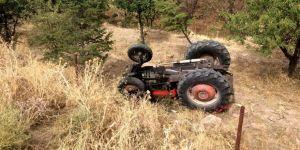 Seydişehir'de traktör devrildi: 1 yaralı