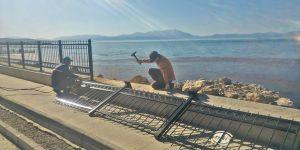 Beyşehir Gölü'nün korkulukları kaldırılıyor