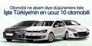 İşte Türkiye'nin en ucuz 10 otomobili