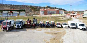 Ilgın'da yeni alınan 12 araç törenle tanıtıldı