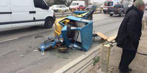 3 tekerlekli motor kazaya karıştı