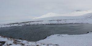 Acıgöl'de kar güzelliği