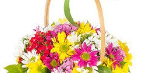Hediye alternatifi olarak çiçek sepeti
