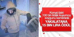 Konya'daki 100 bin liralık kuyumcu soygunu kamerada