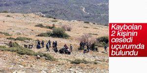 Karaman'da kaybolan 2 kişinin cesedi uçurumda bulundu