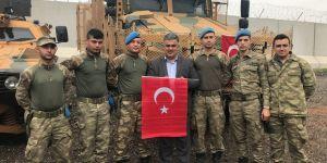 Ereğli heyetinden Zeytin Dalı Harekatı'na katılan askerlere moral ziyareti