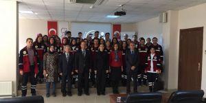 Yüksekokul öğrencilerinden AFAD'a ziyaret