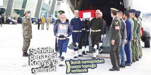 Şehit Ufacık'ın cenazesi Konya'ya getirildi