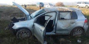 Konya'da otomobil takla attı. 4 yaralı