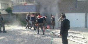 Akşehir'de yangına jandarma müdahalesi