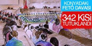 Konya'daki FETÖ/PDY çatı havasında 342 sanığa hapis cezası