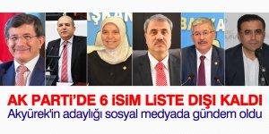 AK Parti'de 6 isim liste dışı kaldı