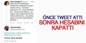 Utanmadan bir de tweet attı!