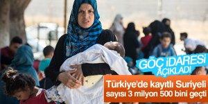 """""""Türkiye'de kayıtlı Suriyeli sayısı 3 milyon 500 bini geçti"""""""
