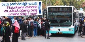 Konya'da ulaşım öğrenciye pahalı
