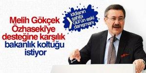 'Gökçek, Özhaseki'ye desteğine karşılık bakanlık koltuğu istiyor' iddiası
