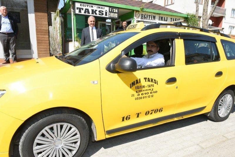 Cumhur İttifakı Yıldırım Belediye Başkan Adayı Yılmaz taksi şoförü oldu, projelerini anlattı