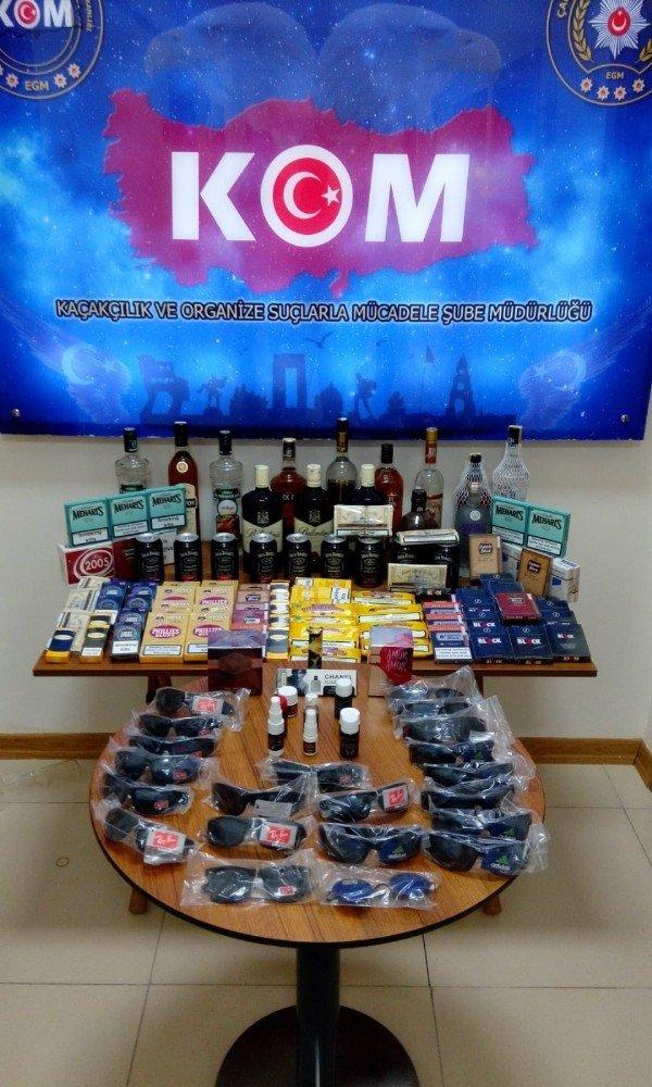 Çanakkale'de kaçak içki ve sigara operasyonu