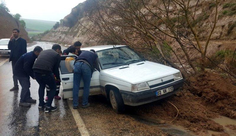 Yola düşen ağaç kazaya neden oldu
