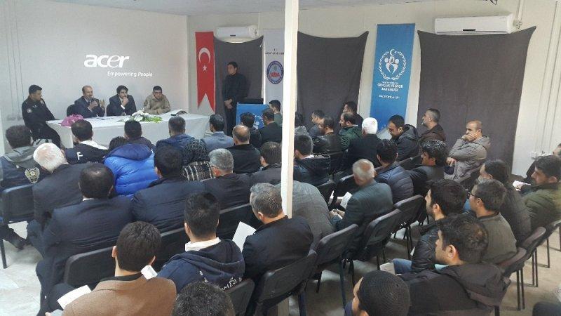 Samsat'ta seçim bilgilendirme toplantısı yapıldı