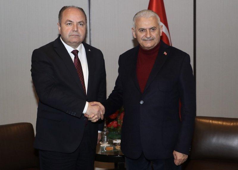 Binali Yıldırım, Anavatan Partisi Genel Başkanı İbrahim Çelebi ile görüştü
