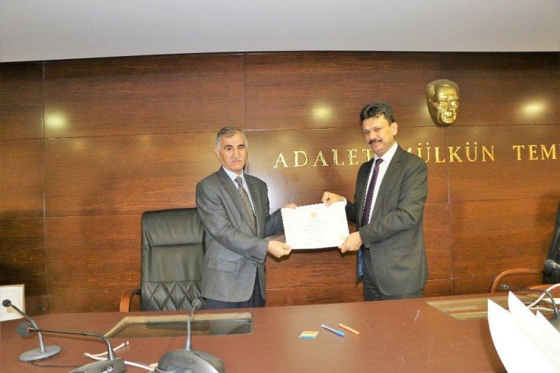 Gaziantep adliyesi personeline teşekkür ve tebrik belgesi