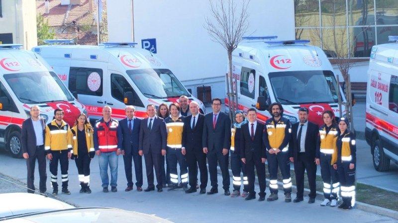 Karabük'e 6 adet yeni 112 ambulansı