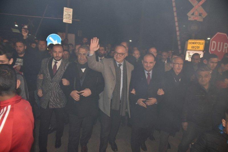 Başkan Ergün ve Çerçi'den ortak miting